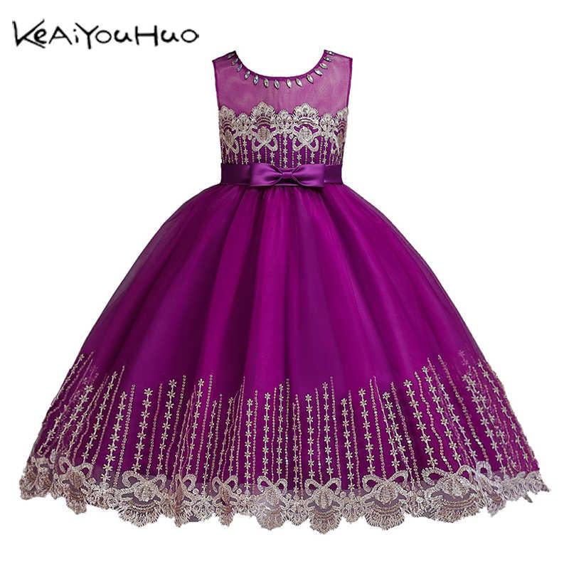 Детские платья на возраст от 2 до 14 лет, одежда для девочек свадебное платье с вышивкой, зимнее элегантное праздничное платье принцессы для девочек на Рождество Высокое качество
