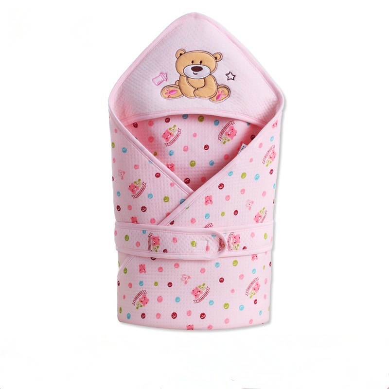 New Cartoon Bear Baby Blanket Swaddling Infant Baby 100% Cotton Sleeping Bag Envelope For Newborn Baby Bedding Wrap Sleepsack
