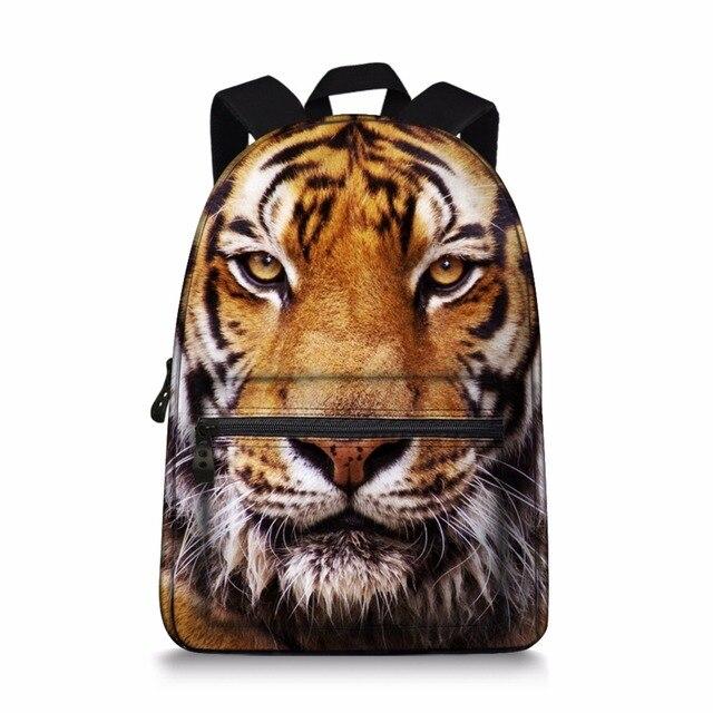 c54c1af07f 3D Animal Backpacks Cool Tiger Print School Bags For Boys Students  Children s Shoulder Book Bag Horse Leopard Rucksack