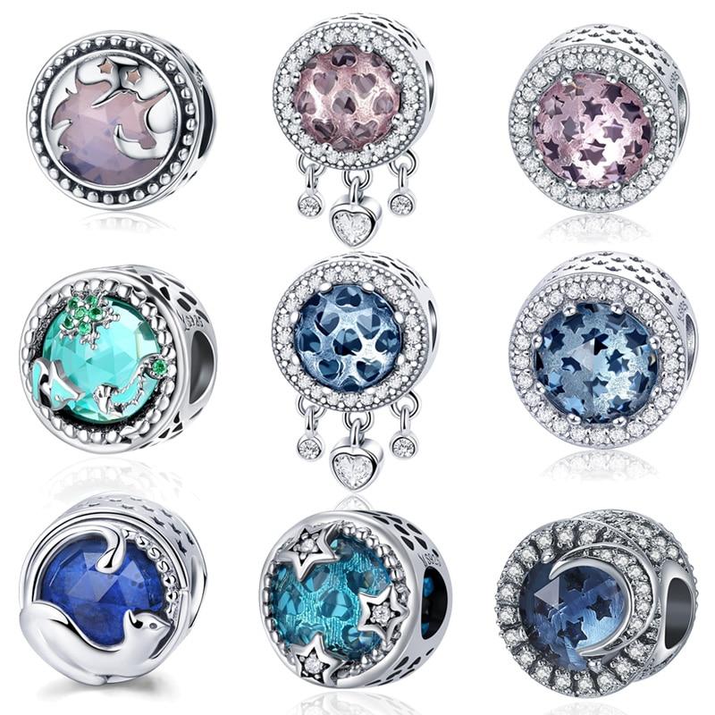 WOSTU 2018 Hot Sale 925 Sterling Sølv Radiant Hjerte Pink Perler Passer Original Charm Armbånd Autentiske Smykker