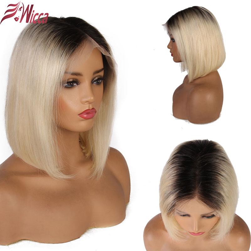 13x6 613 Blonde Short Bob Lace Front Human Hair Wigs For Black Women Brazilian Straight Hair 13x6 613 Blonde Short Bob Lace Front Human Hair Wigs For Black Women Brazilian Straight Hair 1B 613 Ombre colored Lace Wig