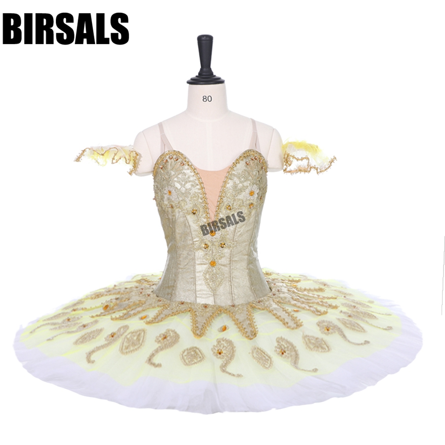 39a71e83d8 Frete Grátis Ouro Branco Bela Adormecida Cosutmes Palco Desempenho Ballet  Tutu Meninas Tutu de Fadas Prato Tutu Vestido BT9134B