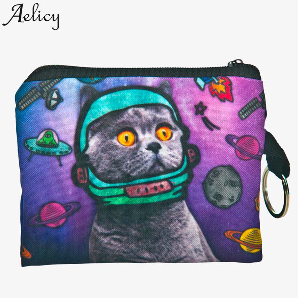 Aelicy Animal Prints coin Purse Female Zipper Coins Bag Wallet Pouch Ladies Clutch Change Purse Women Cartoon Zero Wallet