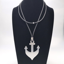 2019 Fashion Handmade 2 Wears Choker Rope Chain Statement Necklace Women Classic Simple Necklaces Collar Anchor Pendants Gothic(China)