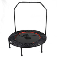 MAYITR 40 Inch Mini Handrail Trampoline Cardio Rebounder Workout Exercise Gym Yoga for Children bodybuilding