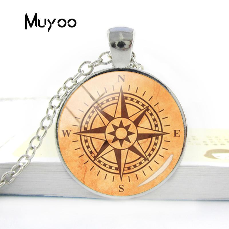 HTB1IwgdV3HqK1RjSZFkq6x.WFXa8 - Vintage Old Compass Rose Steampunk Style Glass Cabochon Pendant Necklaces Glass Color Compass Jewelry Nacklace Gifts