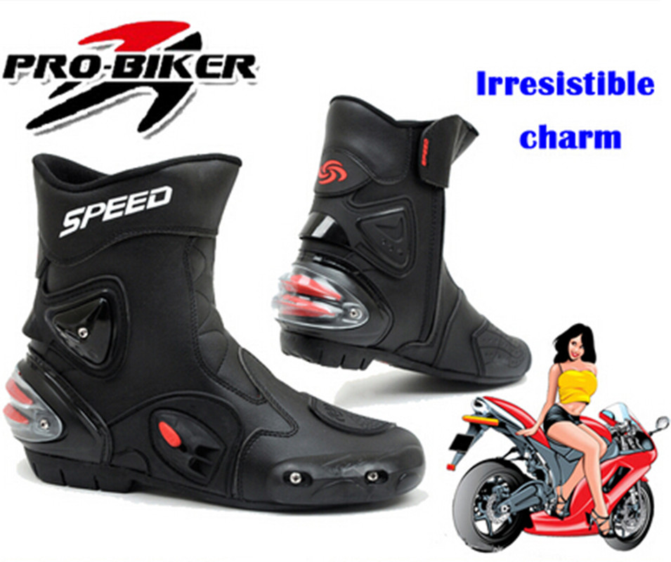 (1pair/2colors) 100% genuine motorcycle boots road cycling shoes motocross half boot racing cycle foo