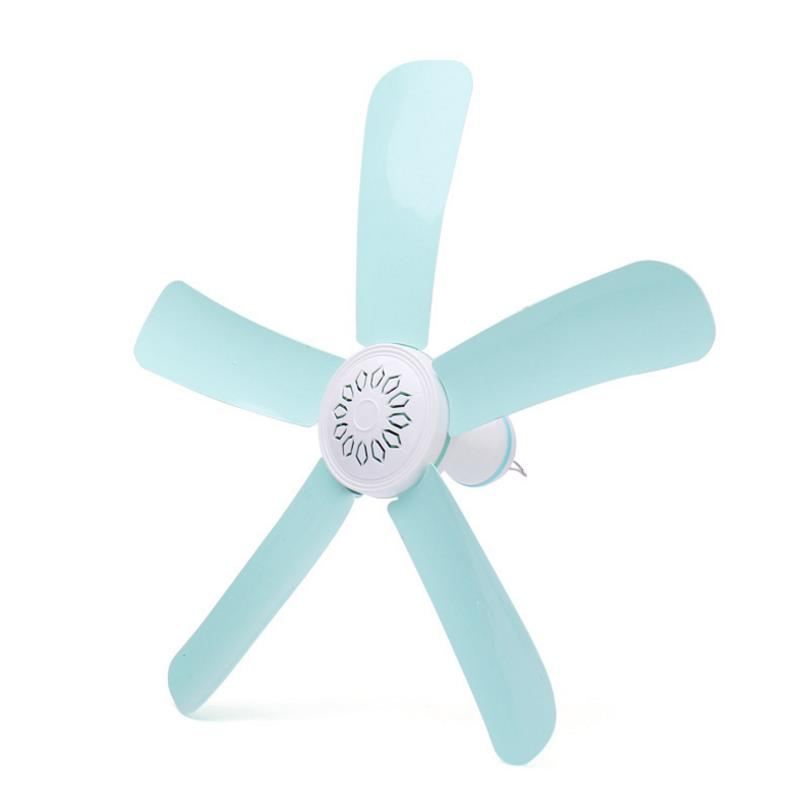 Blue 7w Silent plastic Energy saving mini ceiling fan 3-5 turn page fan 220V hanging fan Soft Wind household серьги page 7