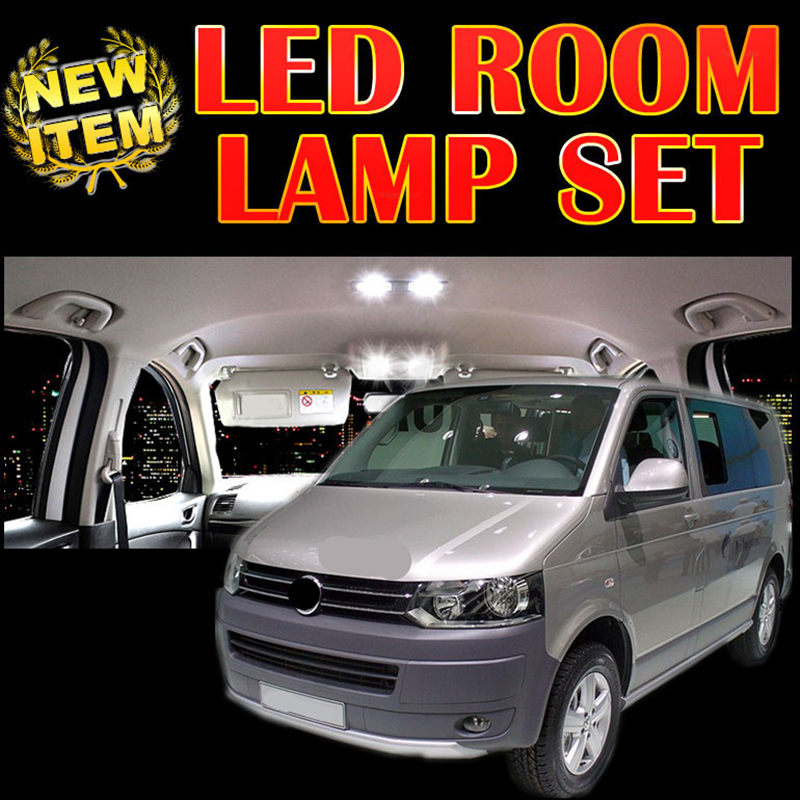 Tcart 6 X free ship Error Free Car LED Vehicle Interior Map Dome Door <font><b>Lights</b></font> Kit Package for <font><b>vw</b></font> T5 <font><b>T4</b></font> accessories 2003-2014 image
