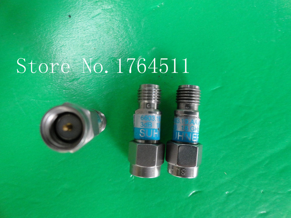 [BELLA] SUHNER 6603.19.AA DC-18GHz 6dB 2W SMA Coaxial Fixed Attenuator  --3PCS/LOT