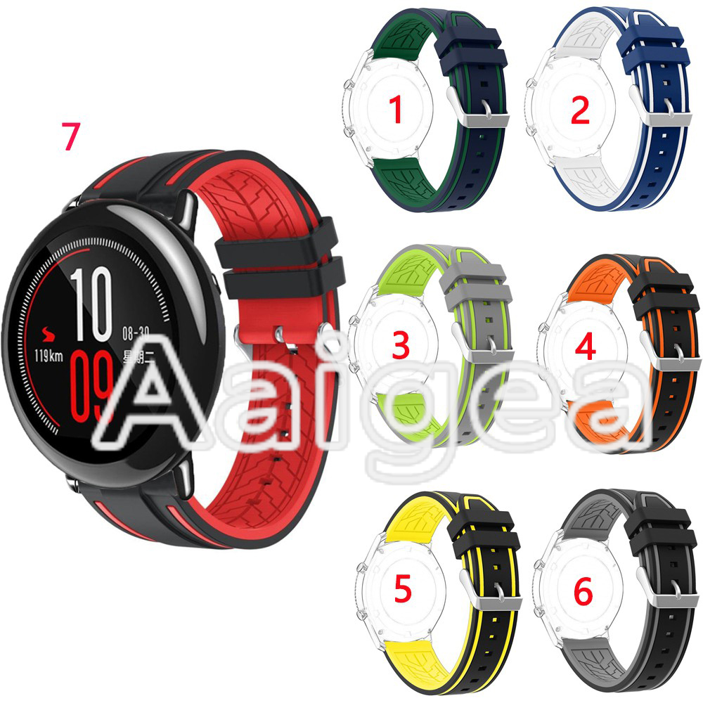 Silicone Band Replacement Strap Durable For Huami Amazfit Pace Smart Watch Sports Soft Wrist watchbands for amazfit pace watch huami amazfit pace replacement strap black green