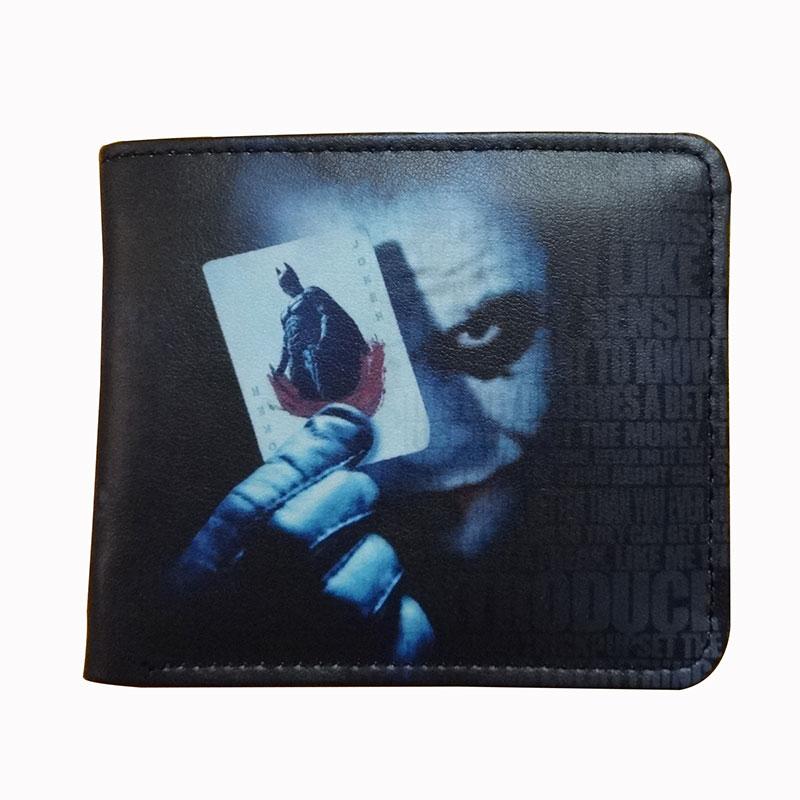 2018 Hot Anime Joker Printing Wallets Men Women Leather Card Holder Purse carteira masculina Gifts Short Wallet with Coin Pocket beyblade set
