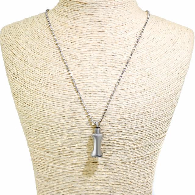Silver Bone Memorial Necklace
