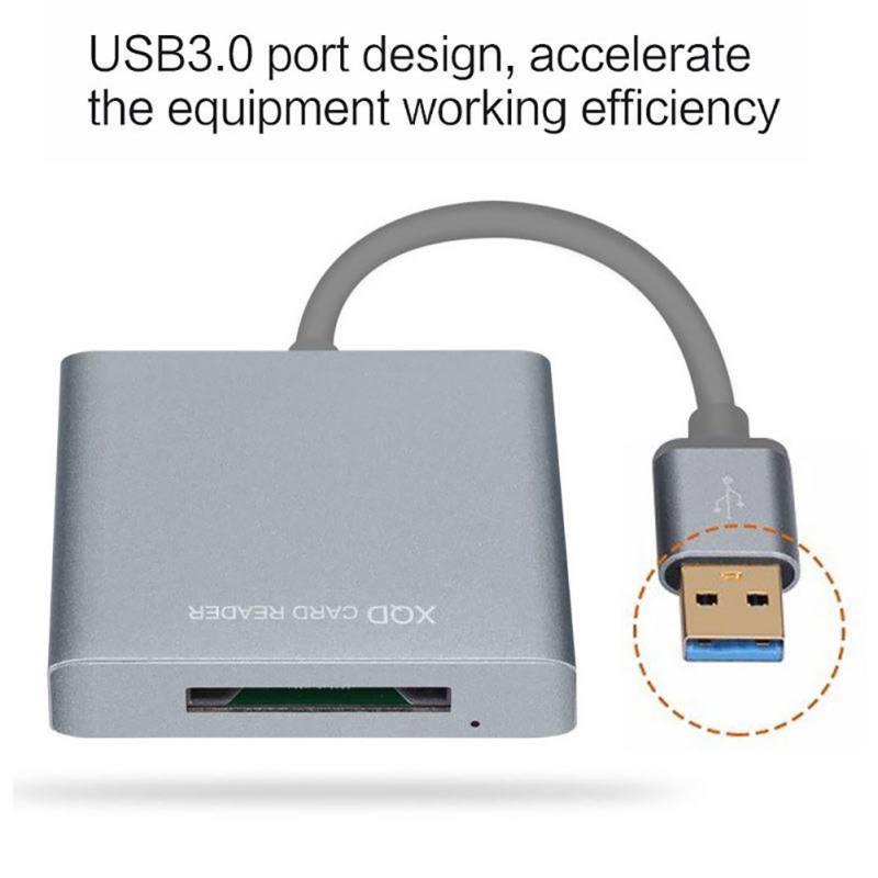 USB3.0/2,0 XQD de alta velocidad lector de tarjeta XQD 2,0 USB 3,0 adaptador de lector de tarjetas para la cámara de tarjeta xqd escritor 500 MB/S
