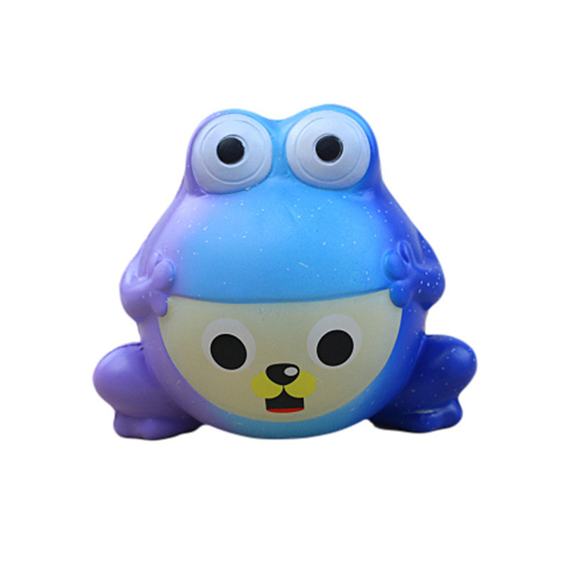 Stress Reliever Simulated Frogs Scented Slow Rising Kids Squeezable Toy Squishi Gift For Baby Kid  F1