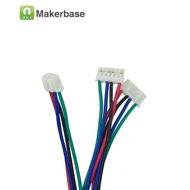 5pcs/lot 3d Printing Parts XH2.54 connector RepRap Dupont wire 1M 4pin female-female nema17 Cable 42 stepper motor cable kablo