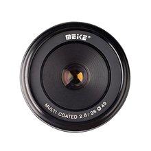 Meike MK-E-28-2.8 28mm f/2.8 fixed manual focus lens for Sony E mount Mirrorless for NEX-5 NEX-7 A6000 A6300 A5100 A7 A7R A7S II