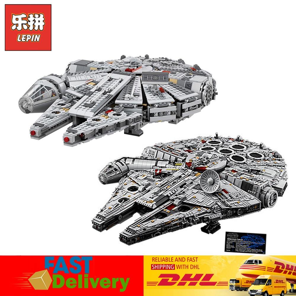 EN Stock Lepin 05007 05132 Star Wars Millennium Falcon Modèle Blocs Briques Jouets pour Enfants Compatible LegoINGlys 75105 75192