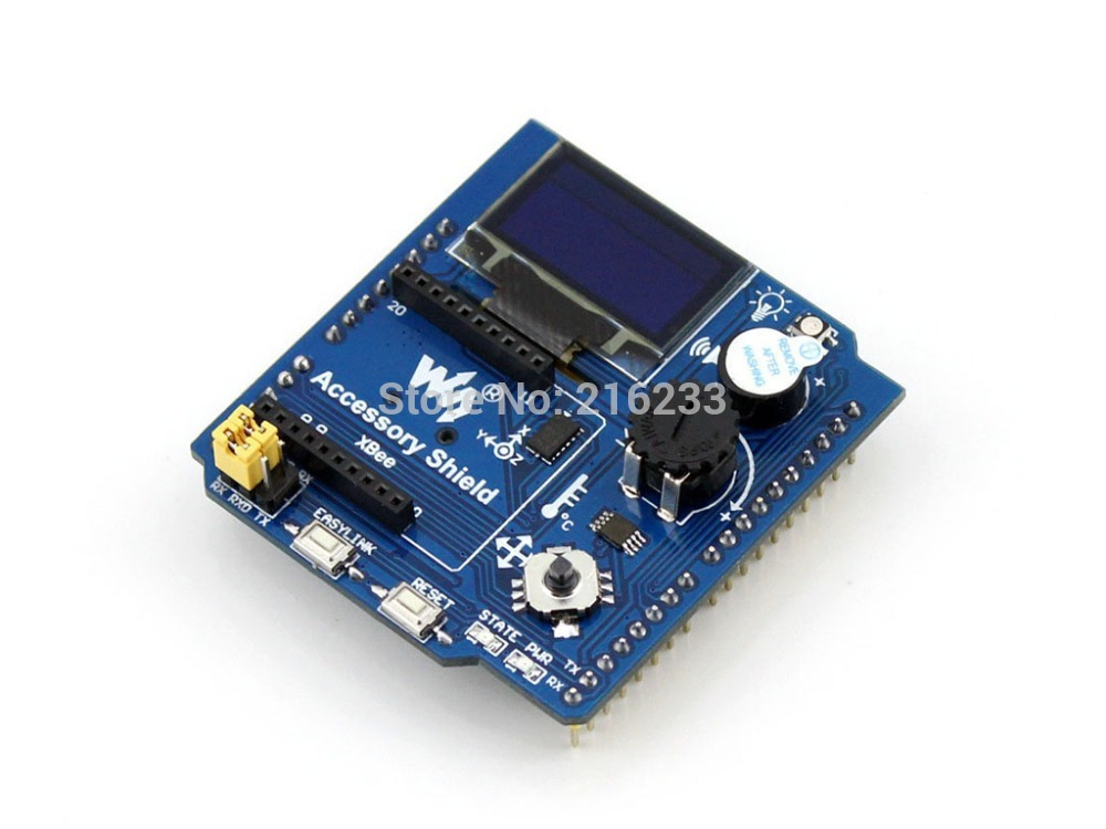 цена на Accessory Shield Integrates XBee Interface 0.96inch OLED LED Other Components Support UNO Leonardo NUCLEO XNUCLEO
