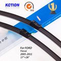 "Car Windshield Wiper Blade Para Ford Focus (2005-2011), 17 ""+ 26"", borracha Natural, bracketless limpa, Acessórios do carro"