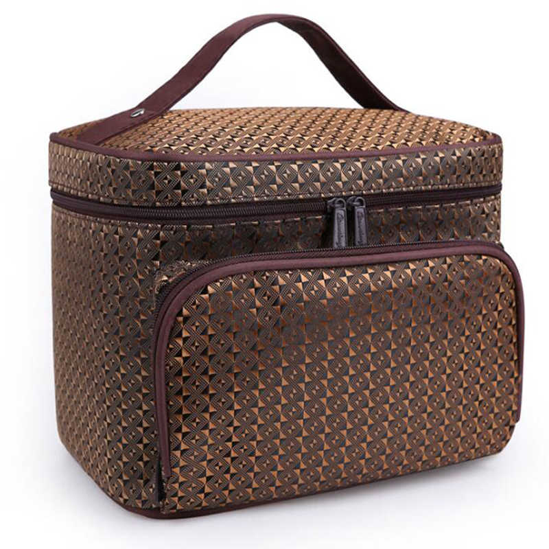 New Large Capacity Makeup Organizers Toiletry Bag Striped Pattern Woman Cosmetic Bags Travel Waterproof Storage Beauty Bag