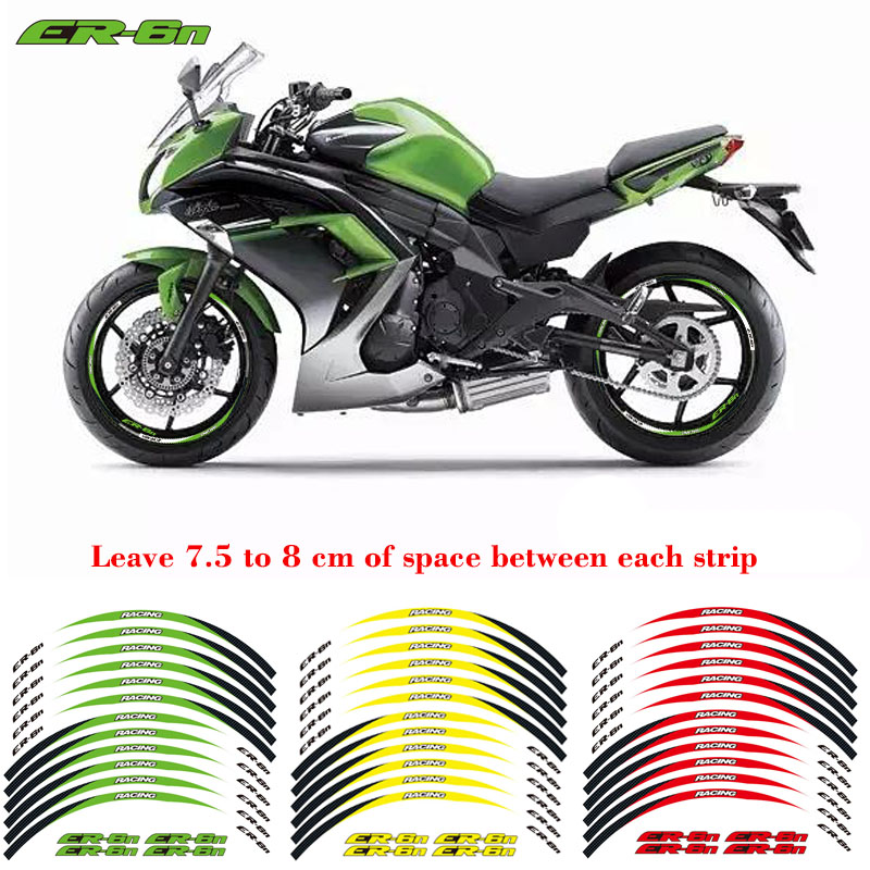 2D Printing Stereo Rubber rim pasters Rim Decal For Yamaha MT-09 TRACER