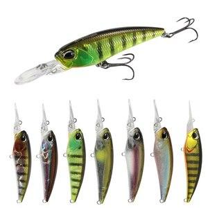 1 шт., длинная губа, блесна, рыболовная приманка 60 мм, 6 г, арифметические воблеры, жесткая пластиковая наживка, приманка, рыболовные снасти