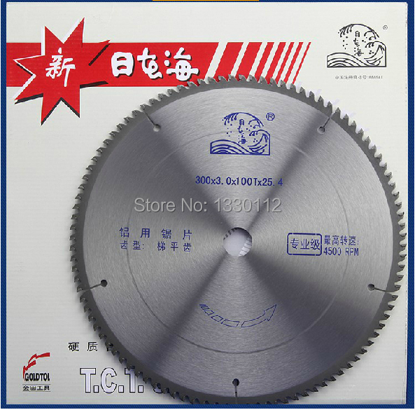 цена на 300mm 12 diameter tct carbide saw blade aluminum for cutting aluminum with other sizes