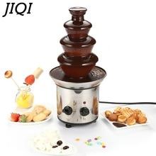 JIQI Шоколадный фонтан фондю события Свадьба Дети День рождения праздничные вечерние принадлежности Рождество шоколадный водопад машина