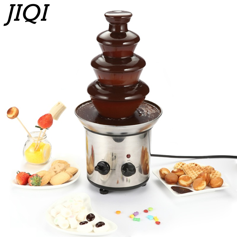 JIQI Chocolate Fountain Fondue Event Wedding Children Birthday Festive Party Supplies Christmas Chocolate Waterfall Machine