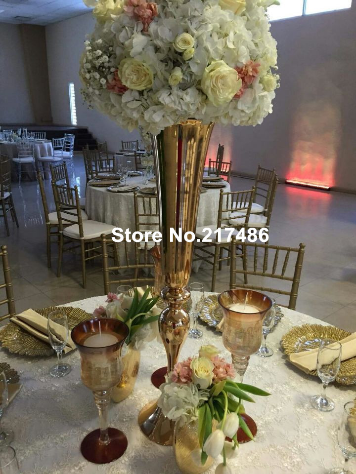 wholesale beautiful tall metal flower vase gold paited flower stand wedding  centerpiece for weddings decoration. Online Get Cheap Gold Flower Vase  Aliexpress com   Alibaba Group