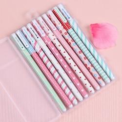 Coreia do sul papelaria bonito criativo pequeno fresco adorável cor caneta 10 cores caneta conjunto dez coreano gel bonito estudante suprimentos menina
