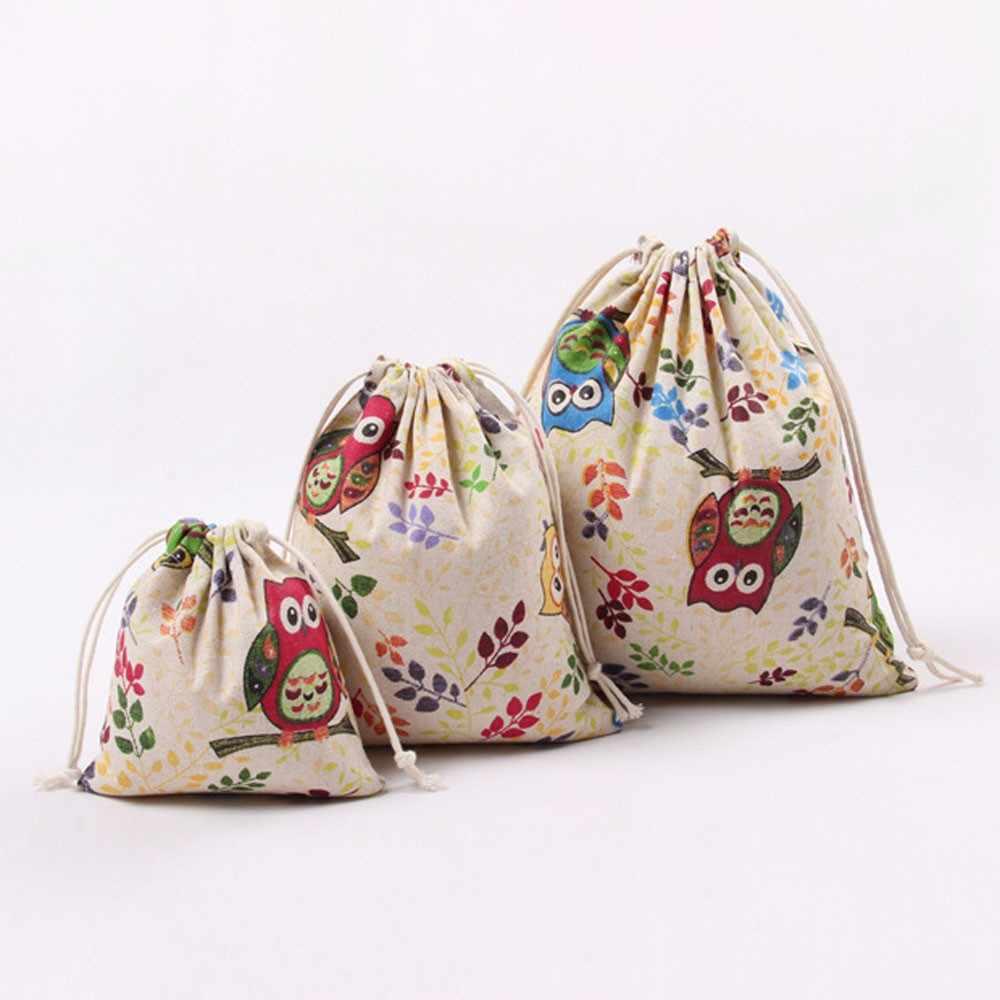 Bolsos con cordones personalizados Logo búho impresión cordón puerto de almacenamiento de barra bolsa de viaje bolsa de regalo bolsa de deportes promocionales # L3 $