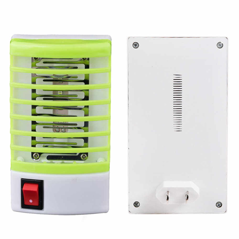 1Pcs ปลั๊กซ็อกเก็ตไฟฟ้ามินิยุงโคมไฟ LED แมลงยุง Fly Bug แมลง Night โคมไฟ Housefly