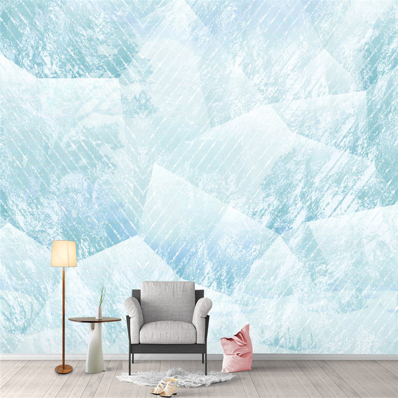 Modern Wallpapers 3D Walls European Simple White Photo Wall Papers Geometric Trees Murals for Living Room Bedroom Home Decor