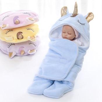 Warm Fleece Unicorn Design Baby Blanket Sleeper 1