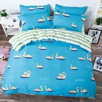 Reversible 4pcs King Size Solid Bedding Sets Geometric Plaid B Side 4pcs Duvet Cover Sets Pillow Cases Pillow Covers