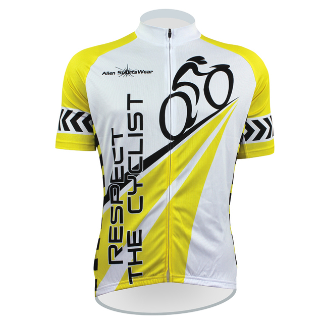 New RESPECT THE CYCLIST Alien SportsWear Mens Cycling Jersey Cycling  Clothing Bike Shirt Size 2XS TO 5XL 053d6d9bd