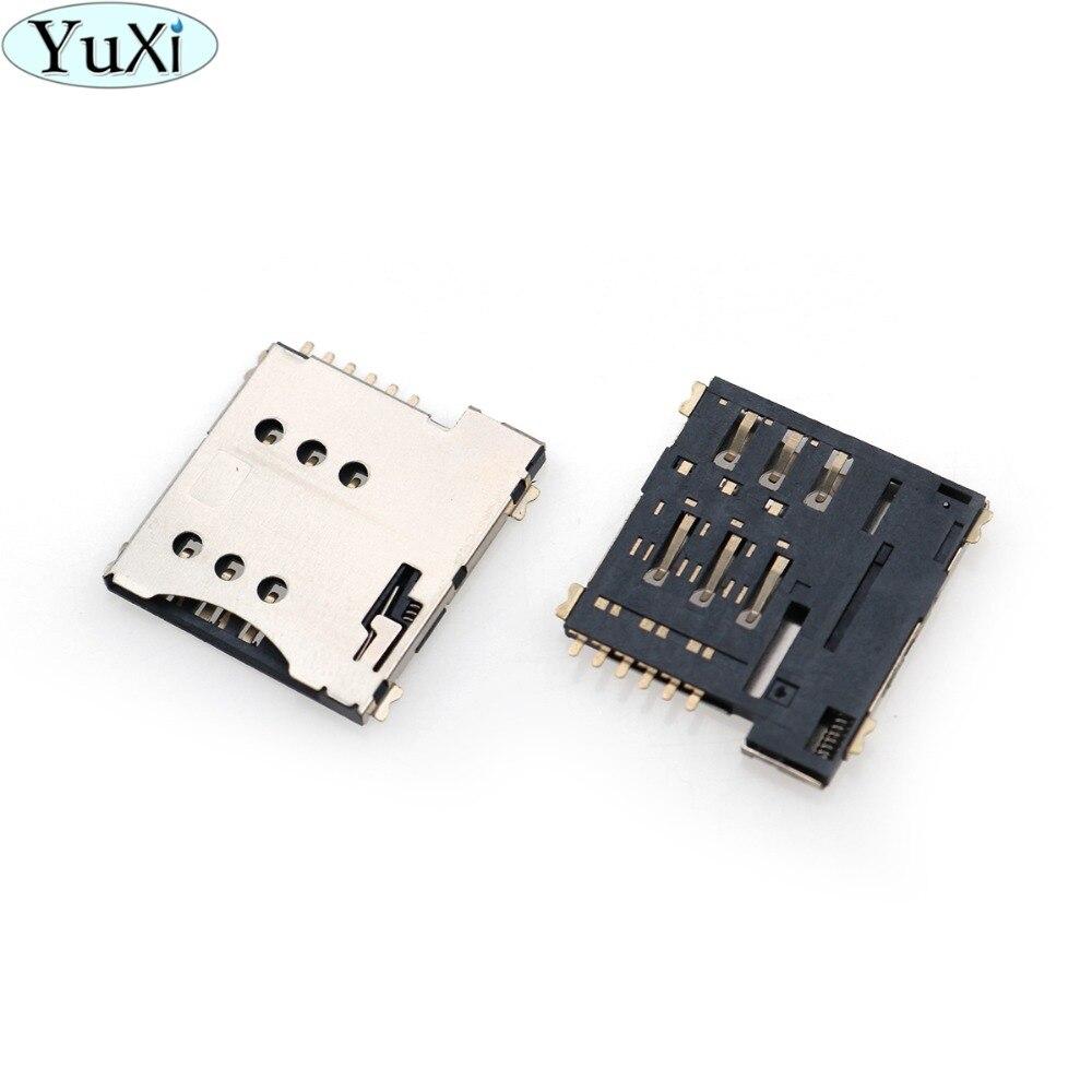 YuXi 6Pin push SIM Small Mobile Phone SIM Card MICRO Card Seat Playing SIM Card Slot