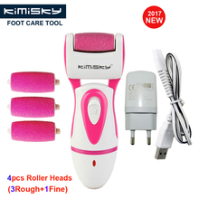 RED 2017 RECHARGEABLE Pedicure Electric Tools Foot Care Exfoliating Foot Care Tool 4pcs Scholls Roller Pedicure