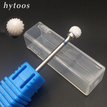 HYTOOS 6*5mm Ball Ceramic Nail Drill Bit 3/32″ Milling Cutter Bits For Manicure Pedicure Nail Drill Accessories Remove Gel Tools