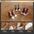 Autumn and winter children 's boots 2016 new boys and girls   zipper  Rome Korean style student shoes mid-calf snow boots