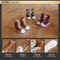 Botas de otoño e invierno de los niños 2016 nuevos muchachos y muchachas zipper Roma estilo Coreano estudiante zapatos de mitad de la pantorrilla botas para la nieve