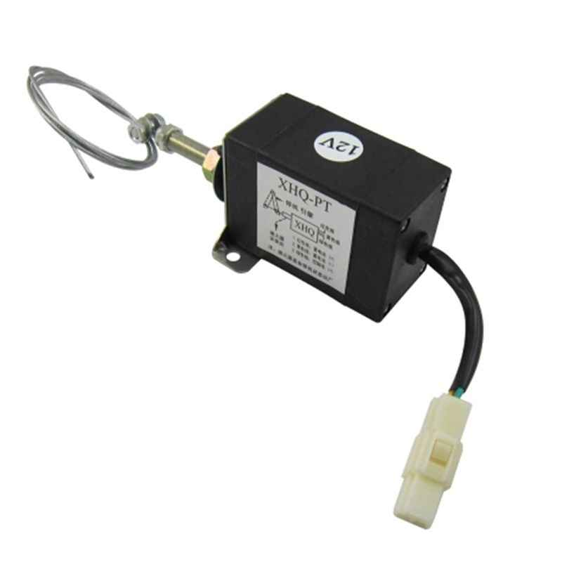 Normaal Close DC 12 v/24 v Diesel Vlam Uit Apparaat Motor Stop Magneetventiel XHQ-PT Power Off pull Type Flameout Magnetische