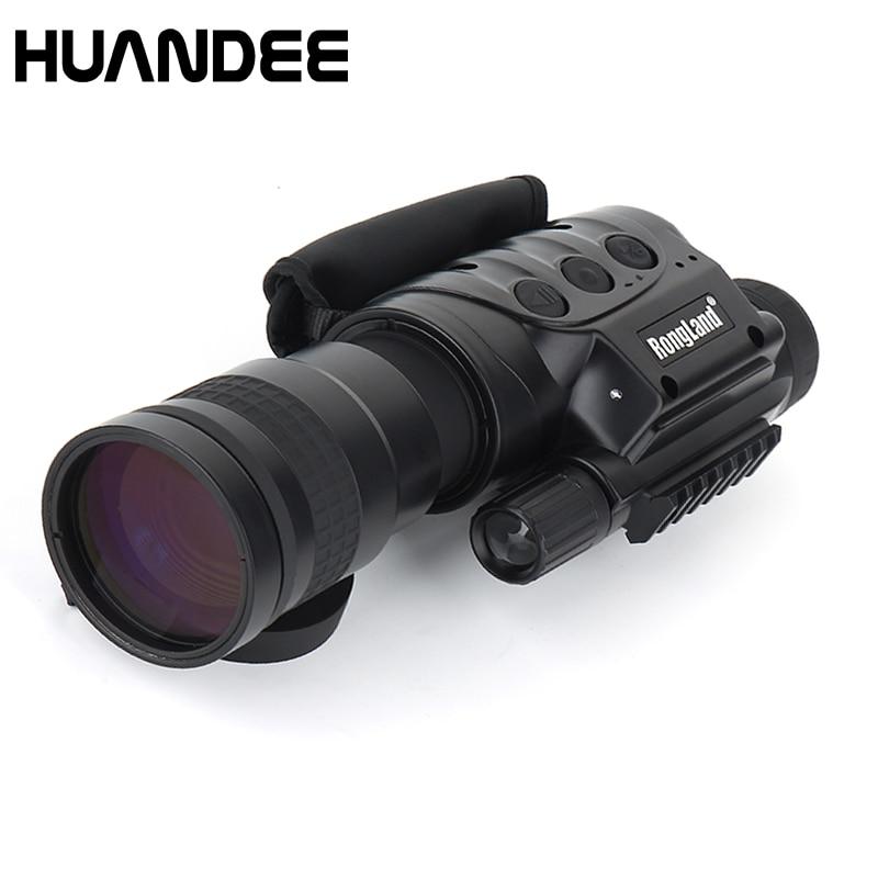 Rongland NV-760D + инфракрасные охотничьи ночного видения ИК Монокулярные телескопы 7x60 + 3 батареи + зарядное устройство записывающее Видео устройс...
