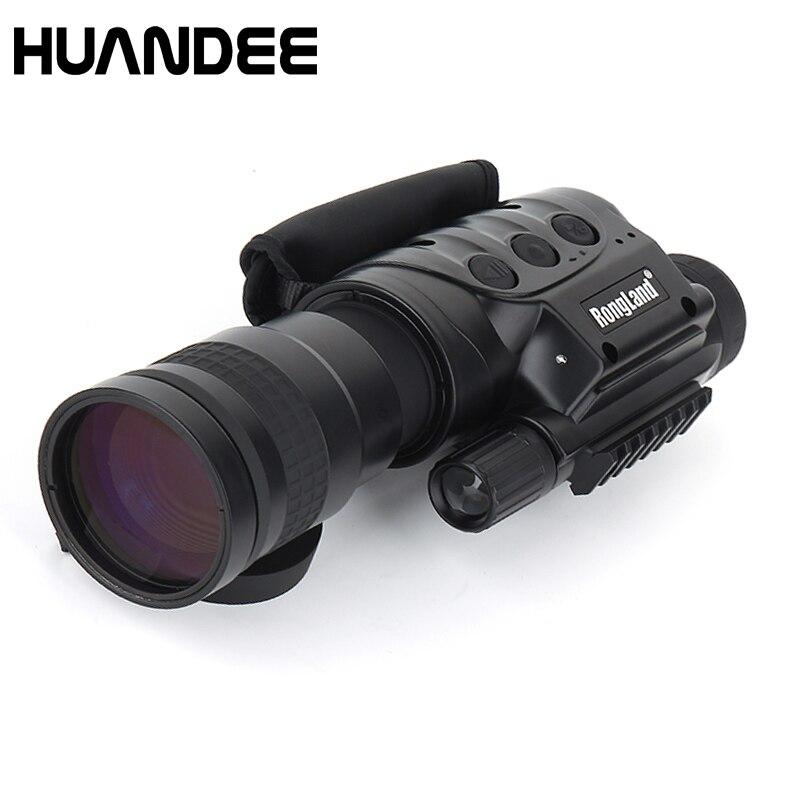 Rongland NV-760D + infrarouge chasse Vision nocturne IR monoculaire télescopes 7x60 + 3 Batteries + chargeur vidéo dispositif d'enregistrement