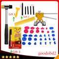 PDR Tools set Dent Removal Paintless Repair Tool Glue Tabs with Rubber harmmer gift fix it pro pen+Glue sticks+5x Tap Down Pen