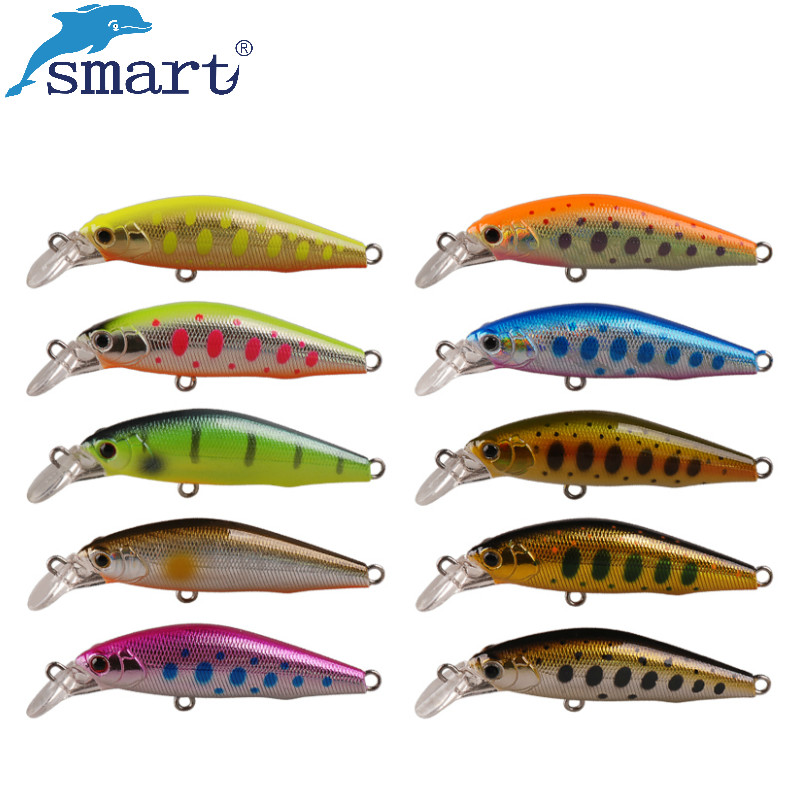 Smart Minnow Fishing Lure 5cm 5.16g Sinking Hard Bait 3D Eyes Iscas Artificiais Para Pesca Leurre Dur Peche Carp Fishing Tackle lushazer fishing lure minnow bait 18g hard lures carp fishing iscas artificiais 2016 wobbler crankbait cheap sea fishing tackle
