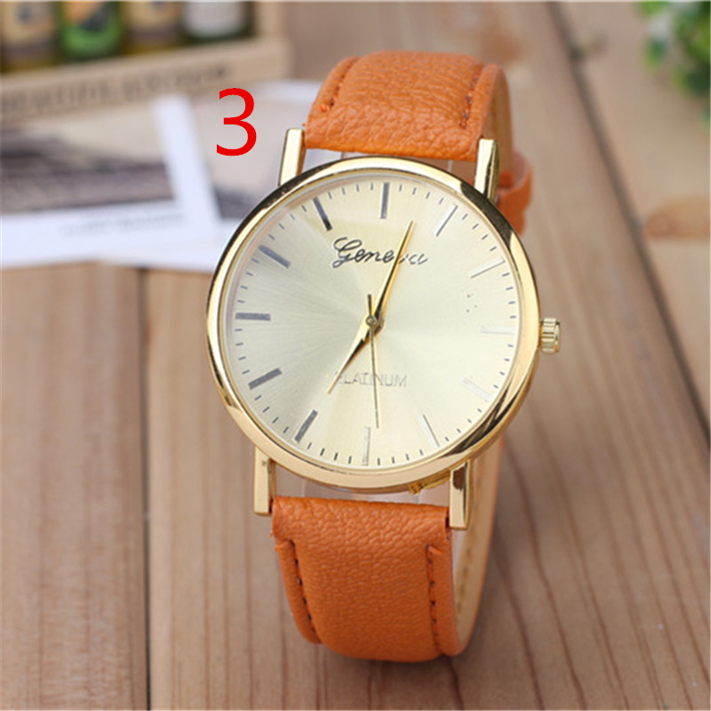 wu's Factory direct supply watch neutral female watch leather belt quartz watch gift watch wholesale 70# wu s 2018 new leather belt watch men s casual waterproof simple watch machinery factory wholesale
