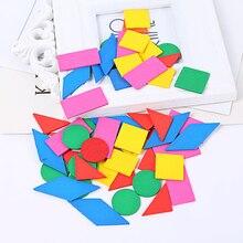 Монтессори Деревянные математические головоломки, игрушки для детей раннего образования, Обучающие математические игрушки, деревянные сенсорные дошкольные геометрические подарки